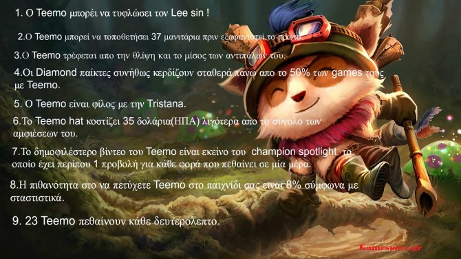 Teemo facts